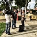 Gravando para a TV Record | foto: Saulo Bergamo
